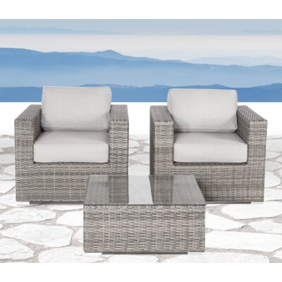 Vardin 3 Piece Sofa Set with Cushion