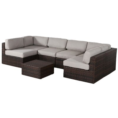 Sabin 7 Piece Sectional Seating Group with Cushions
