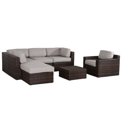 Sabin Contemporary 7 Piece Deep Seating Group with Cushion