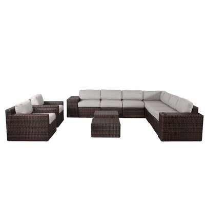 Sabin 13 Piece Deep Seating Group with Cushion