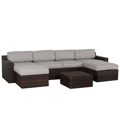 Sabin Olefin 7 Piece Deep Seating Group with Cushion