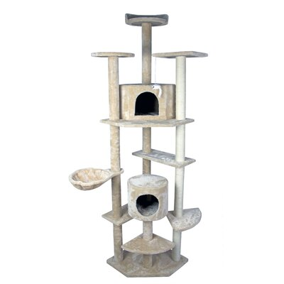 79 Tower Furniture Sisal Pole and Stairs Cat Tree and Condo