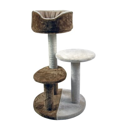 30 3-Tier House with Cradle Perches Scratch Post and Bed Cat Tree and Condo