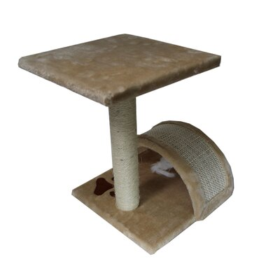 15 Small Sisal Scratching Post Furniture Playhouse Pet Bed Kitten Toy Cat Trees and Condos for Kittens Color: Beige