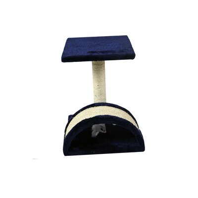 15 Small Sisal Scratching Post Furniture Playhouse Pet Bed Kitten Toy Cat Trees and Condos for Kittens Color: Navy