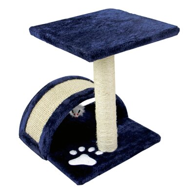 15 Small Sisal Scratching Post Furniture Playhouse Pet Bed Kitten Toy Cat Tower for Kittens Cat Tree and Condo Color: Navy
