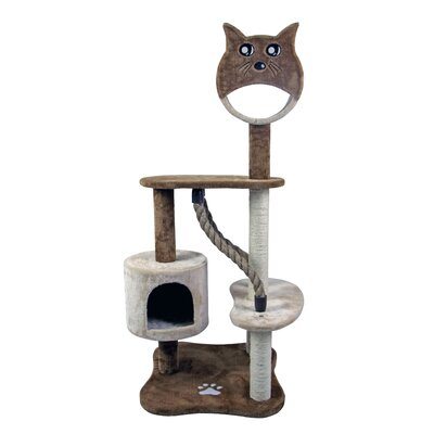 50 Special Cat Face House Furniture Playhouse Pet Bed Kitten Toy Cat Tower for Cats Kittens Cat Tree and Condo