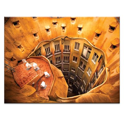 'Antoni Gaudí's La Pedrera' Photographic Print on Canvas Size: 16