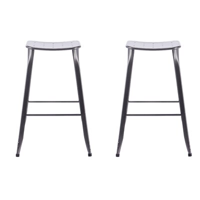 Lennon 29 Bar Stool Finish: Distressed Metal