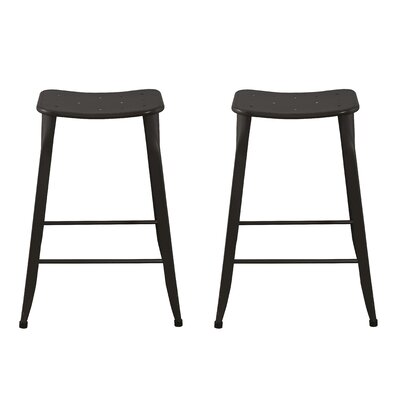 Lennon 24 Bar Stool Finish: Brown