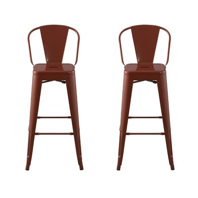 Carlisle 29 Bar Stool Finish: Red