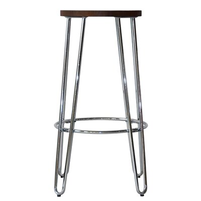 Quinn� 28.94 Bar Stool Finish: Chrome