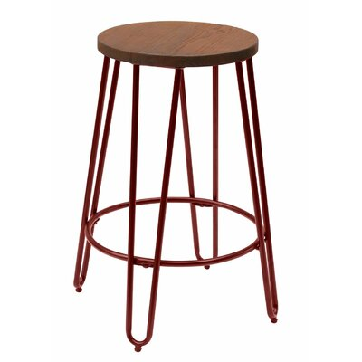Quinn� 28.94 Bar Stool Finish: Matte Red