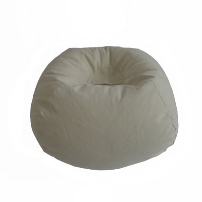 Corduroy Bean Bag Chair Upholstery: Vintage White
