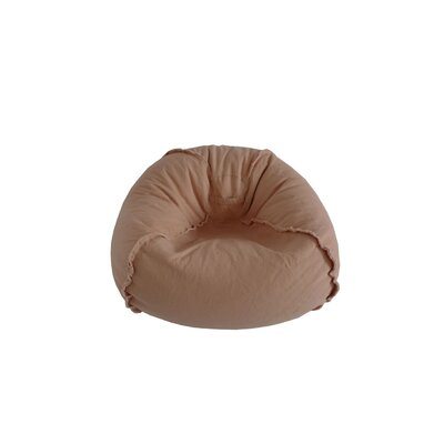 Exposed Seams Bean Bag Chair Upholstery: Dusty Pink