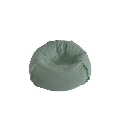 Exposed Seams Bean Bag Chair Upholstery: Mint