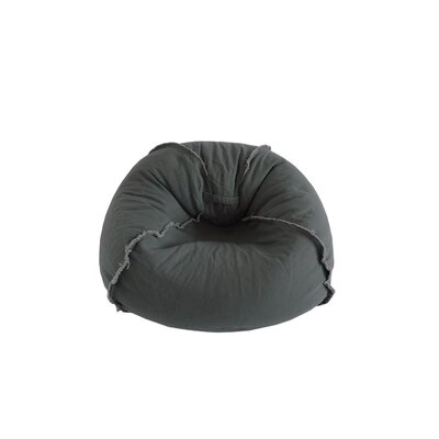 Exposed Seams Bean Bag Chair Upholstery: Charcoal Gray