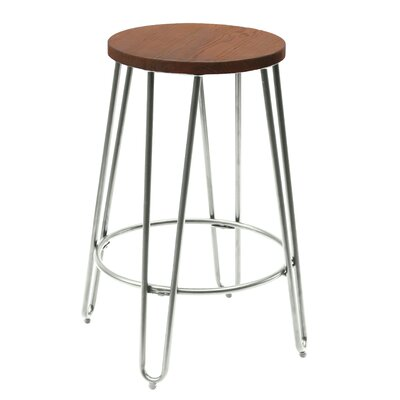 Quinn 23.82 Bar Stool Finish: Chrome