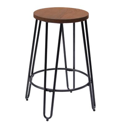 Quinn 23.82 Bar Stool Finish: Matte Black