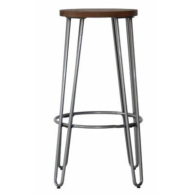 Quinn 23.82 Bar Stool Finish: Natural Metal