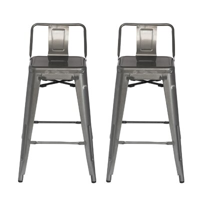 33 Bar Stool Finish: Gunmetal