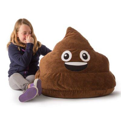 GoMoji Emoji Poo Bean Bag Chair