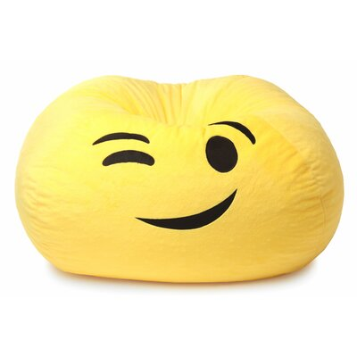 GoMoji Emoji Wink Bean Bag Chair