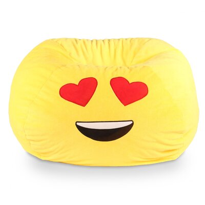 GoMoji Emoji Heart Eyes Bean Bag Chair