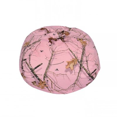 Mossy Bean Bag Chair Upholstery: Oak Pink, Size: Medium
