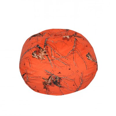 Mossy Bean Bag Chair Upholstery: Oak Orange, Size: Medium