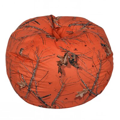 Mossy Bean Bag Chair Upholstery: Oak Orange, Size: Extra Large