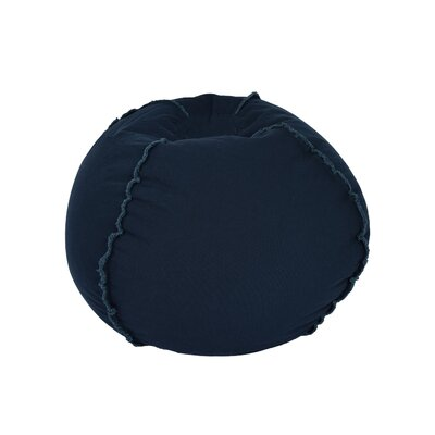Exposed Seams Bean Bag Chair Upholstery: Blue