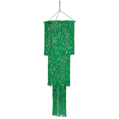 3-Tier Shimmering Drum Chandelier Color: Green