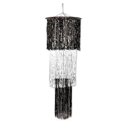 3-Tier Shimmering Drum Chandelier Color: Black/White