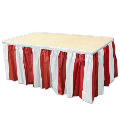Beistle Company 52164-Rw Red & White Stripes Table Skirting Red & White 52164-RW
