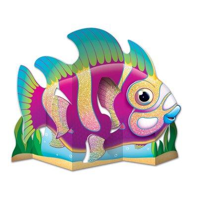Glittered Fish Centerpiece Figurine 54833