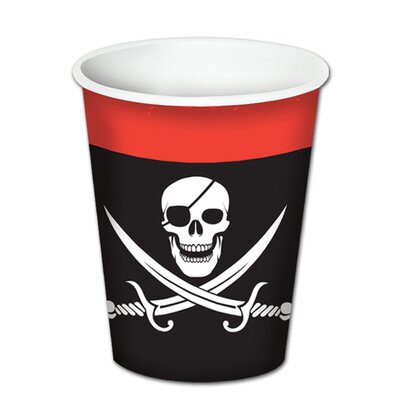 Pirate Beverage 9 oz. Paper Everyday Cup (Set of 3) 58204
