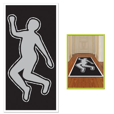 Crime Scene Body Silhouette Multi Color Indoor/Outdoor (Set of 2)