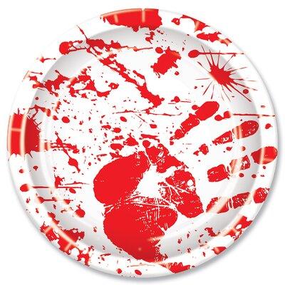 Halloween Bloody Handprints Dessert Plate 08003