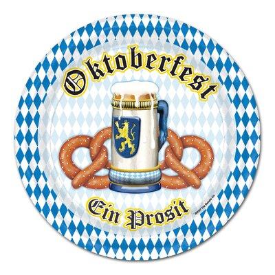 Oktoberfest Paper Appetizer Plate (Set of 6) 58007
