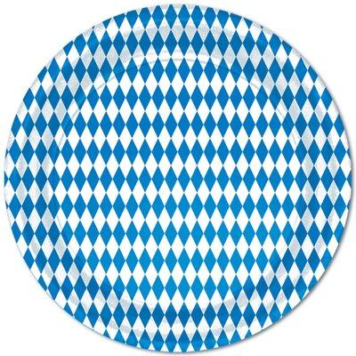 Oktoberfest Blue & White Paper Appetizer Plates (Set of 6) 58008