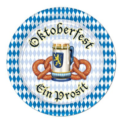 Oktoberfest Paper Appetizer Plates (Set of 6) 58067