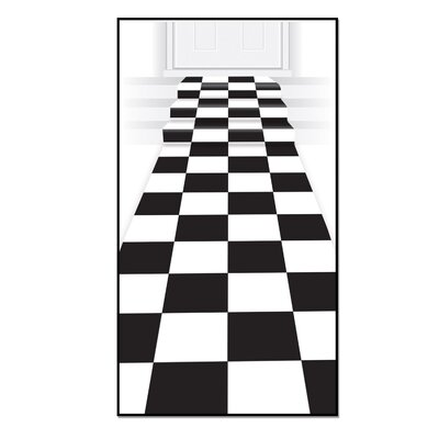 Checkered Black/White Area Rug