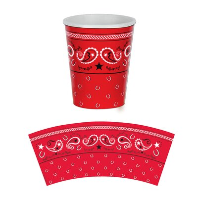 Western Bandana 9 oz. Paper Everyday Cup (Set of 3) 58209