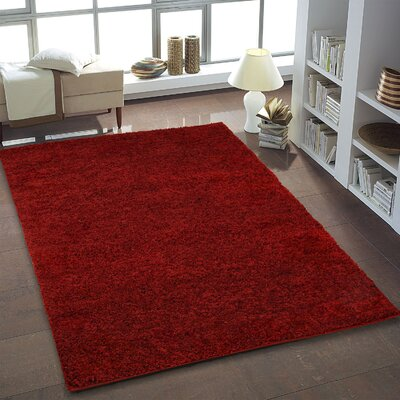 Bombay Red Area Rug Rug Size: 39 x 55