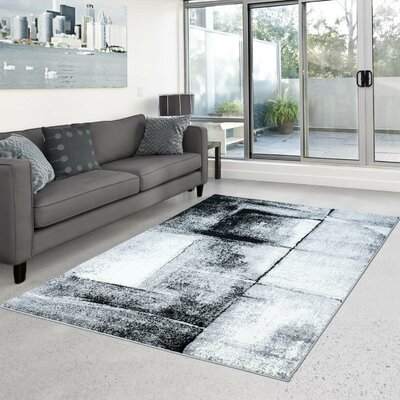 Gabriella Turkish Gray Area Rug Rug Size: 63 x 93