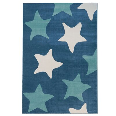Elvis Star Blue Area Rug Rug Size: Rectangle 311 x 53