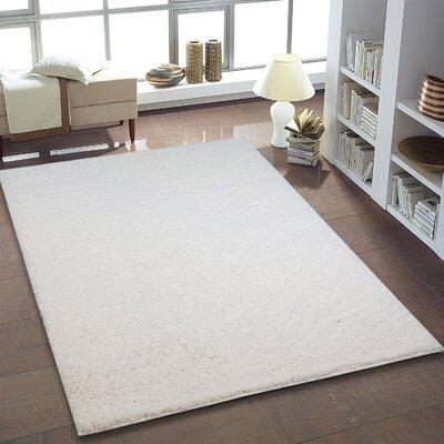 Truxton White Area Rug Rug Size: 39 x 55