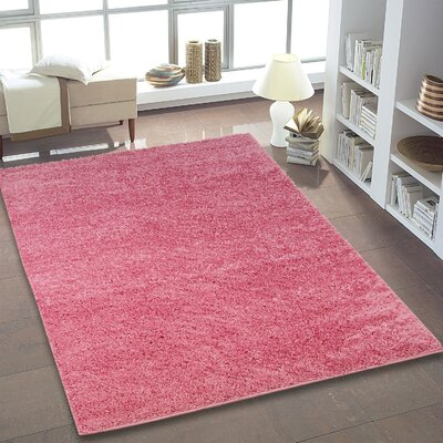 Truxton Pink Area Rug Rug Size: 52 x 75