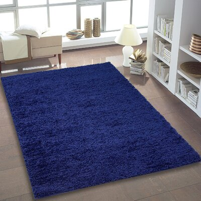 Bombay Blue Area Rug Rug Size: 39 x 55